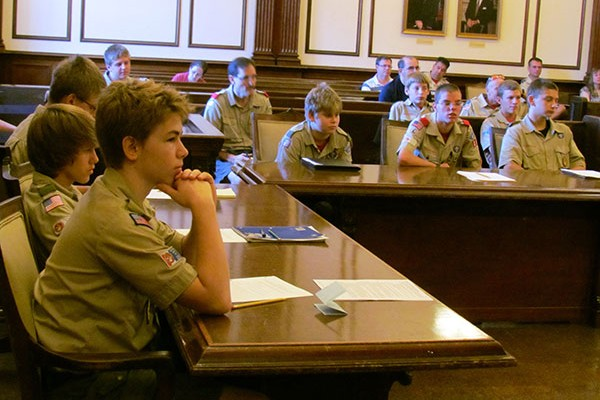 scouts in court