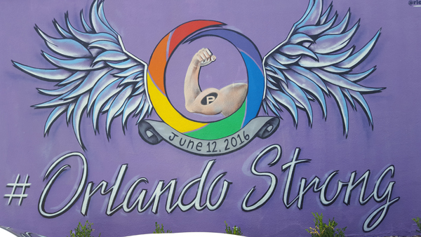 Mural located on the side of the GLBT Community Center of Central Florida building.