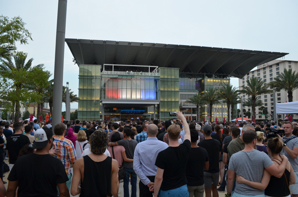 Vigil at Dr. Phillips Center for the Performing Arts