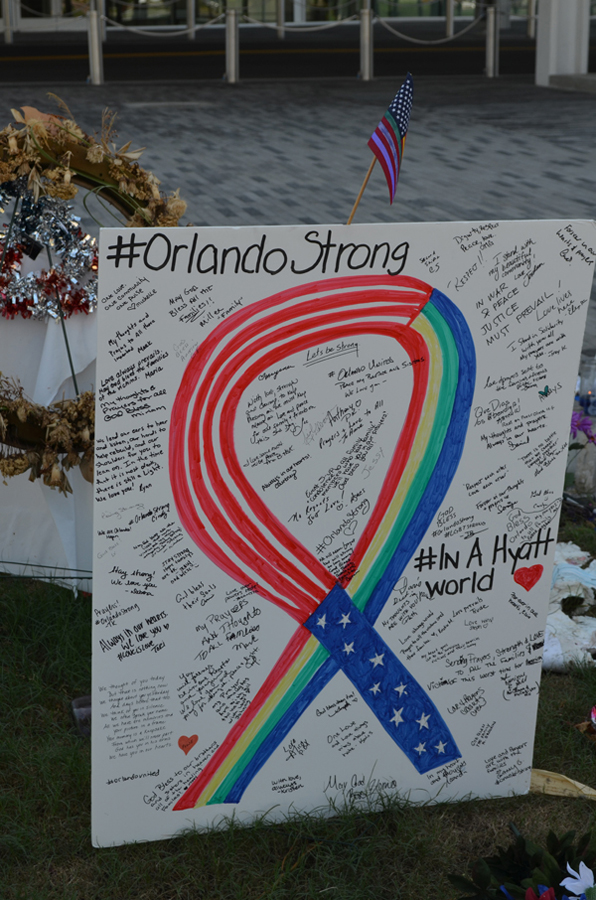 Orlando Strong ribbon DPAC
