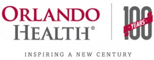 Orlando Health 100 Years logo