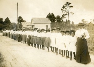 Mary McLeod Bethune with students
