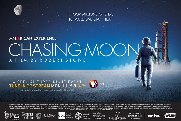 AMERICAN EXPERIENCE's Chasing the Moon, written, produced and directed by Academy Award nominee Robert Stone, reimagines the race to the moon for a new generation, utilizing a visual feast of previously overlooked and lost archival material – much of which have never been seen by the public.
