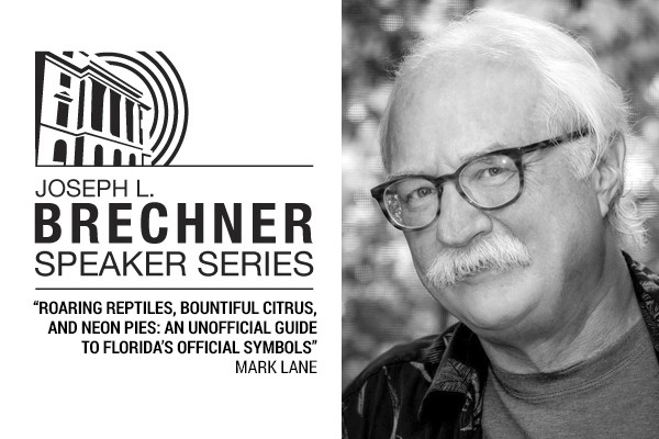 Black and White headshot of author Mark Lane and the Brechner Series logo