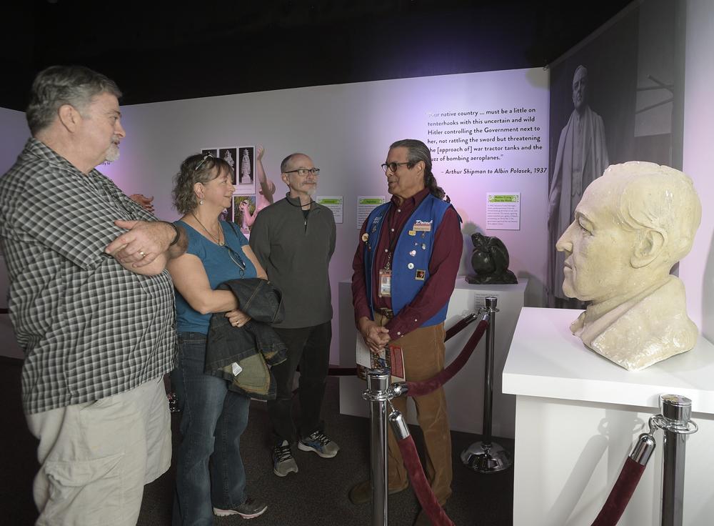 during the Polasek exhibition at the Orange County Regional History Center in Orlando, Fla., Sunday, March 6, 2016. (/Phelan M. Ebenhack)