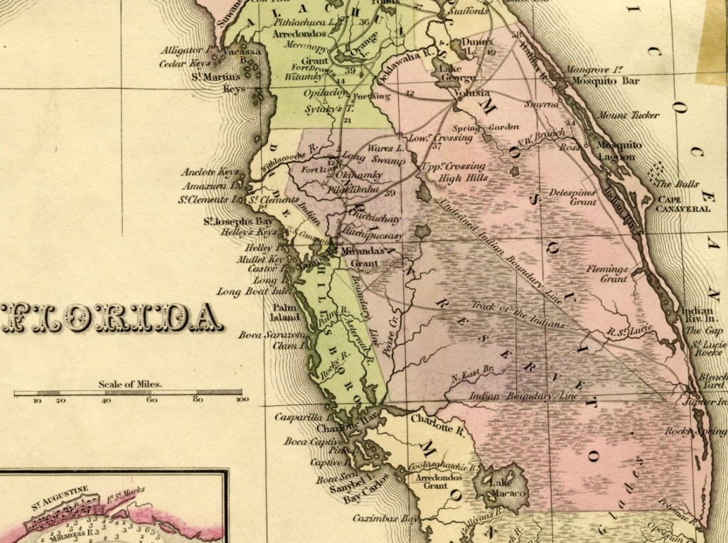 Tanner's Florida map, 1833