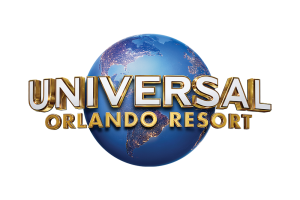 Text reading Universal Orlando Resort on top of an image of the earth