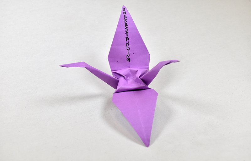 Pulse Memorial Object - Purple Origami Crane